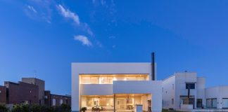 Stunning design of permanent housing of a family of four members