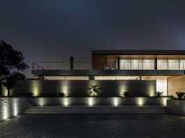 Casa Claros project located on a slope along the riverside overlooking the city