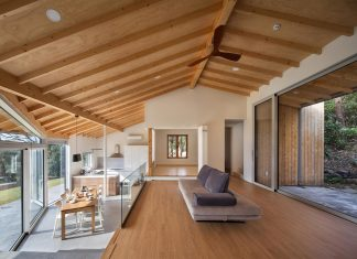 A contemporary home which incorporates elements from Korean traditional residences by guga Urban Architecture