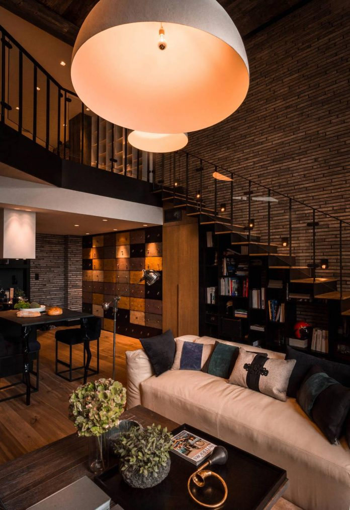 Double height living rooms