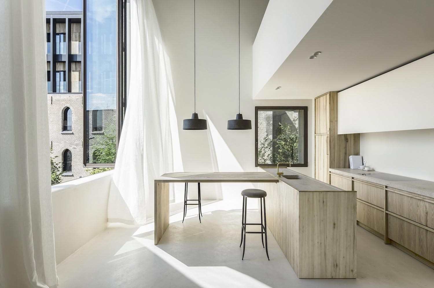 Minimalist interior design of the cube apartment designed for Minimalist house wallpaper