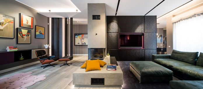 Back in Black by 23bassi: spacious contemporary apartment located in Milan