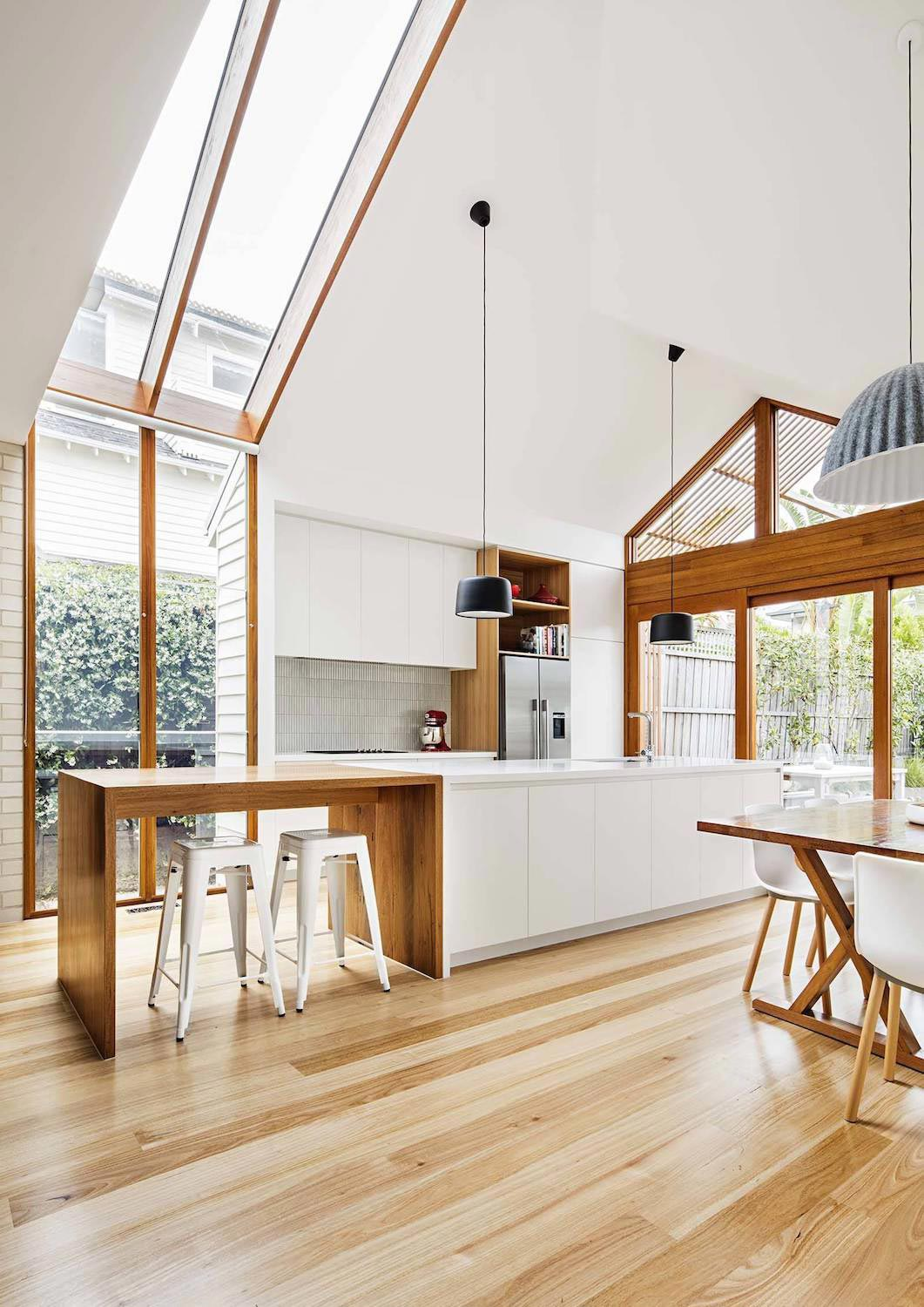 Edwardian timber cottage in Sandringham gets an spacious, light filled, open plan renovation at the back