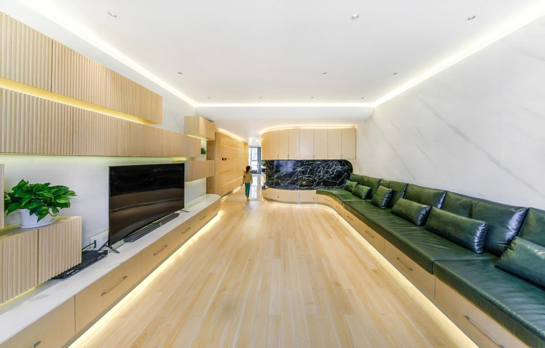 Atelier Alter designed this apartment in Beijing which is modern and functional at the same time