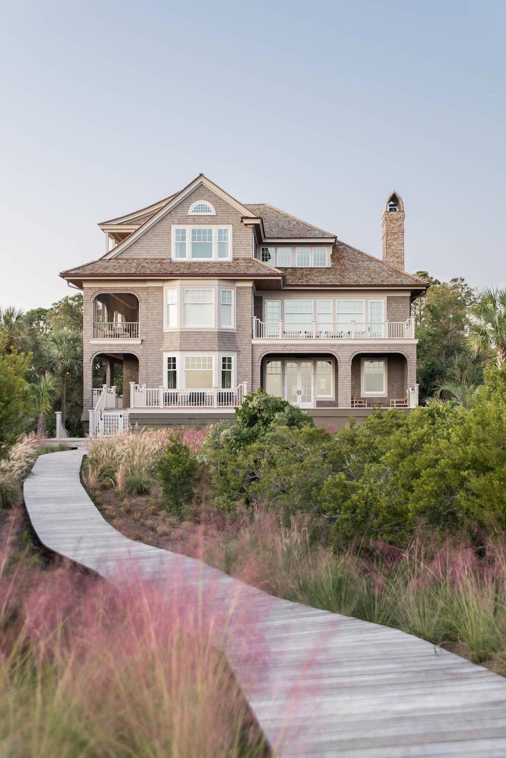 Lovely traditional beach house in south carolina is for Traditional beach house designs