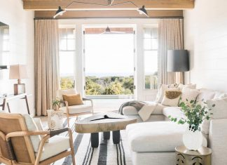 Lovely traditional beach house in South Carolina is converted into a bright contemporary home by Cortney Bishop Design