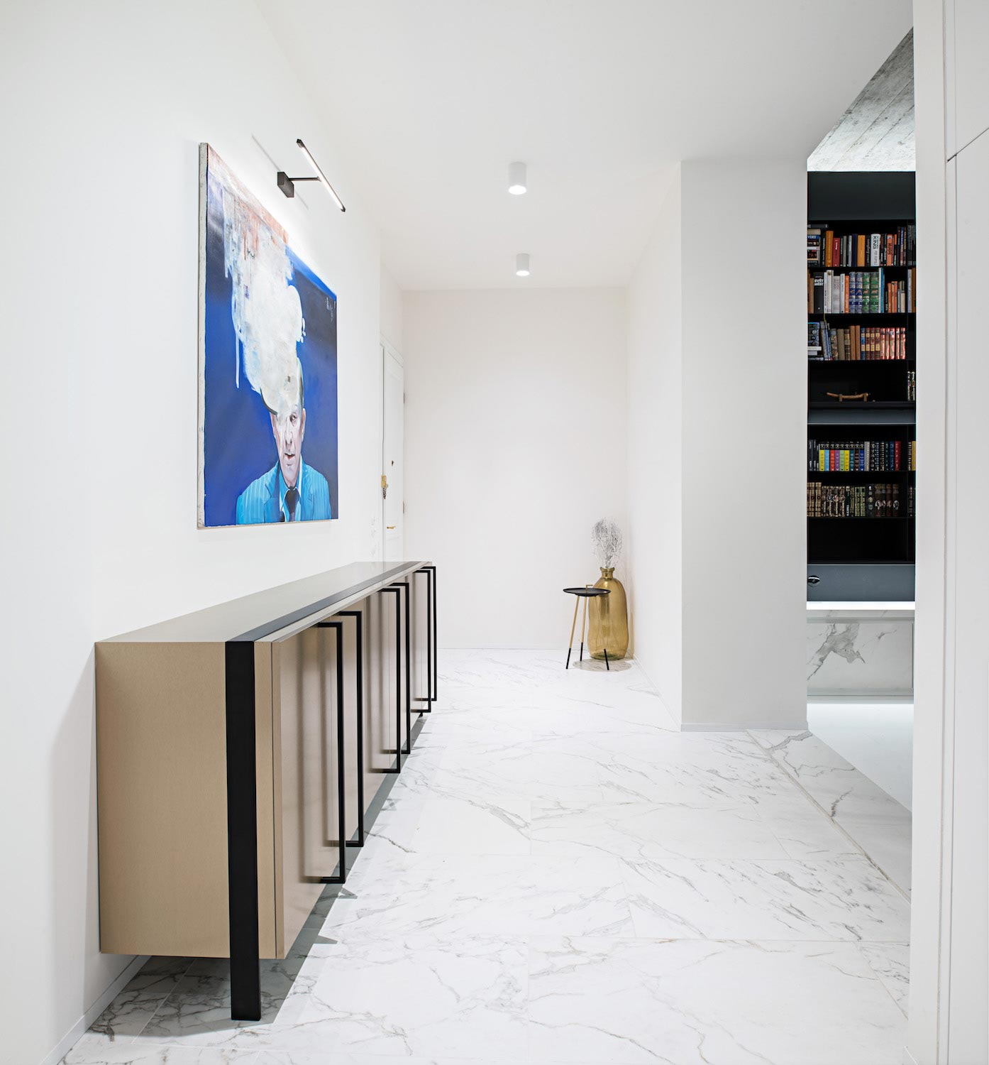 Oooox designed this contemporary apartment in the old town for Designer apartment prague