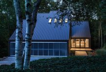 The renovation of a private residence on a wooded and exurban site near Iowa City