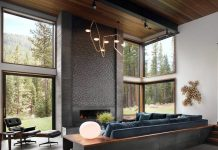 Mountain modular home has sophisticated design with a sense of playfulness in the aesthetic