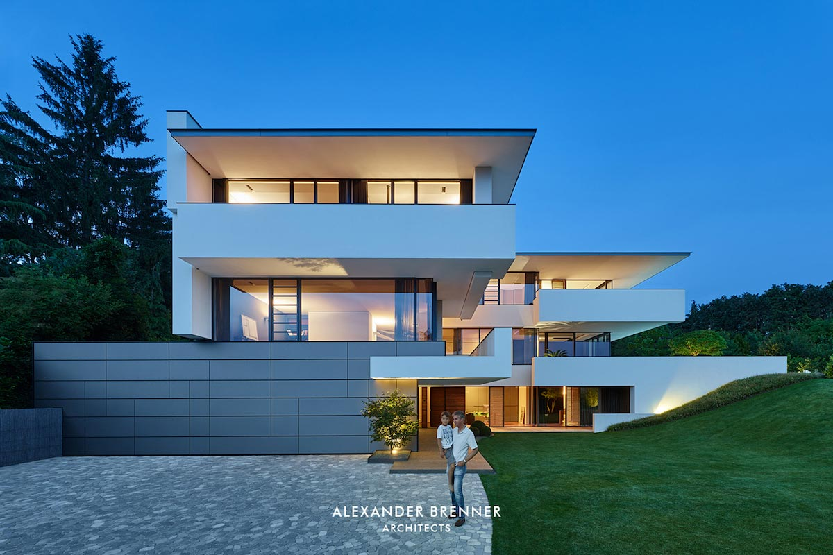 Contemporary two story wiesbaden house designed by for Modern house design blog