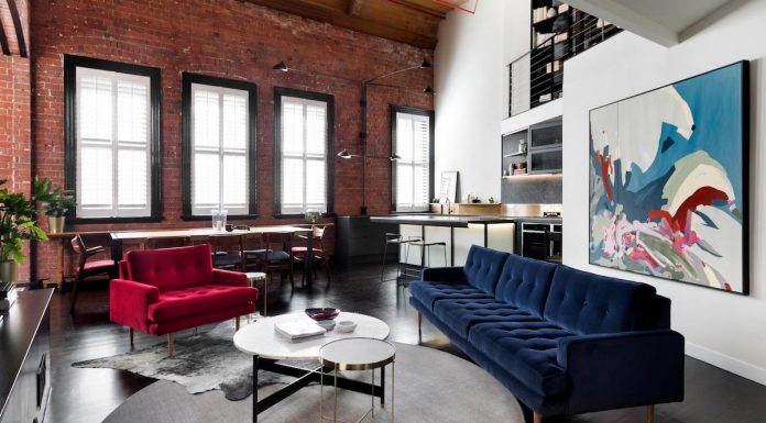 Inspiring industrial brick apartment designed by Design + Diplomacy in Melbourne