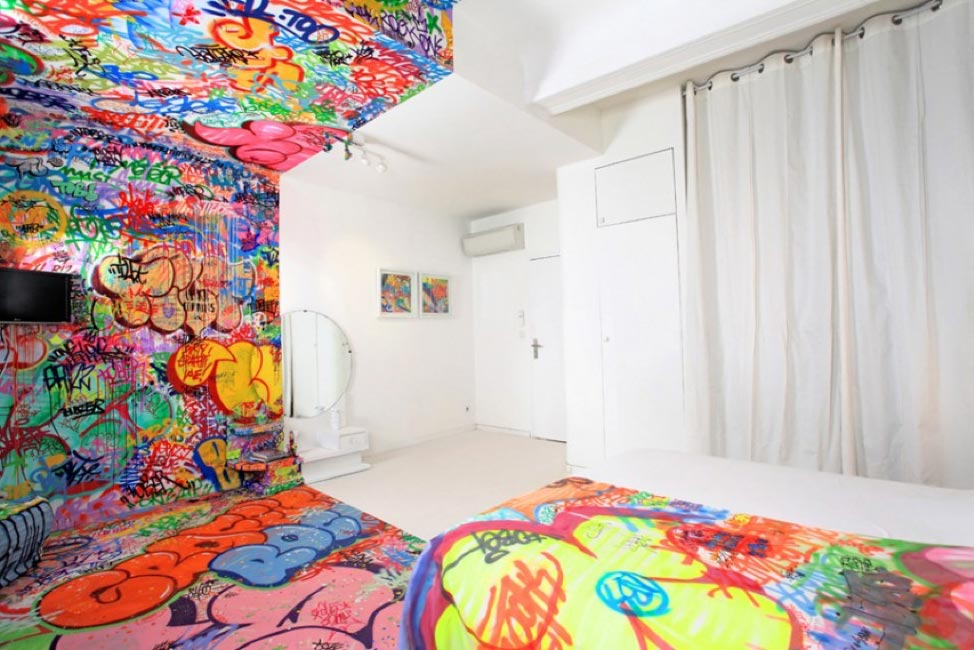 5 cool interior graffiti ideas