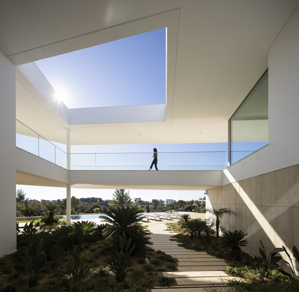 natural materials - modern villa