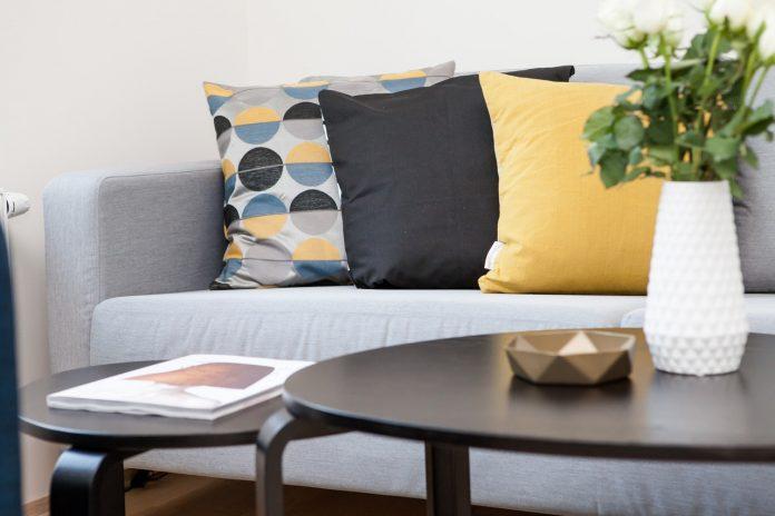 pop color sofa