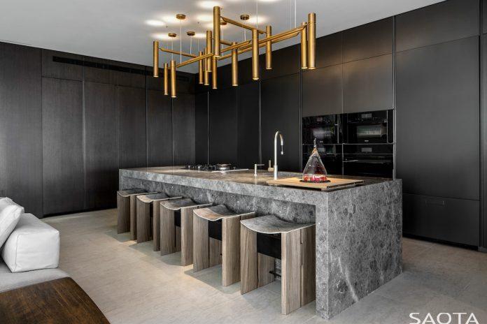 SAOTA's Hillside home in Los Angeles main kitchen island