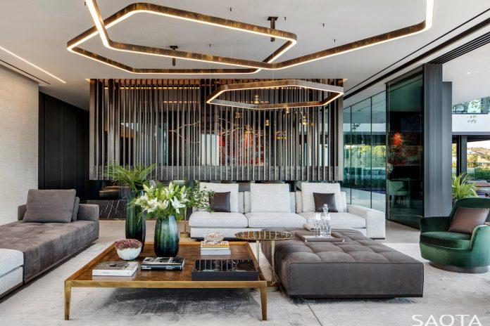 SAOTA's Hillside home in Los Angeles living room