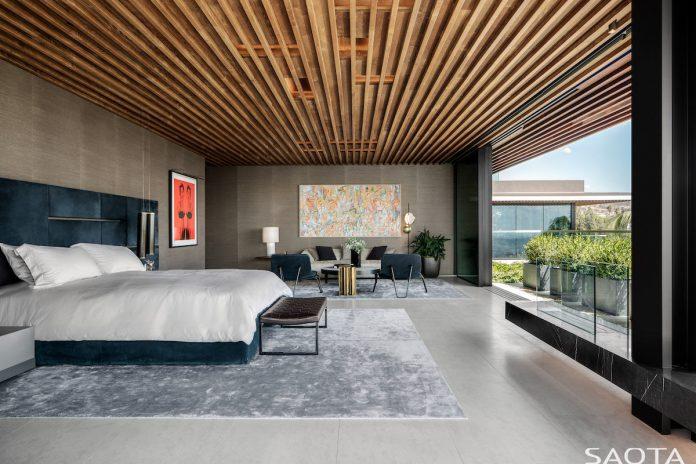 Hillside home in Los Angeles bedroom