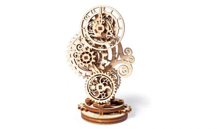 UGears Steampunk Clock: Unusual Wooden Model