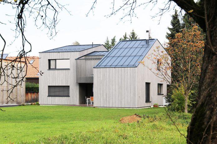 CLT structure eco home in Lauterach, Austria