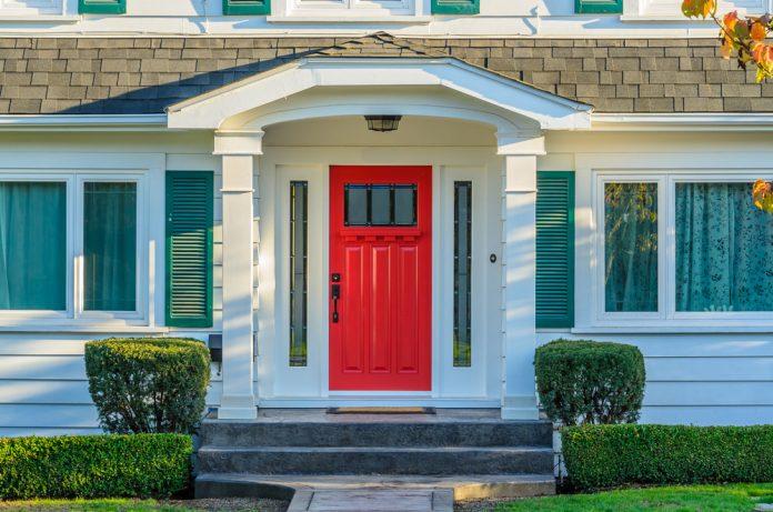 Red entry door